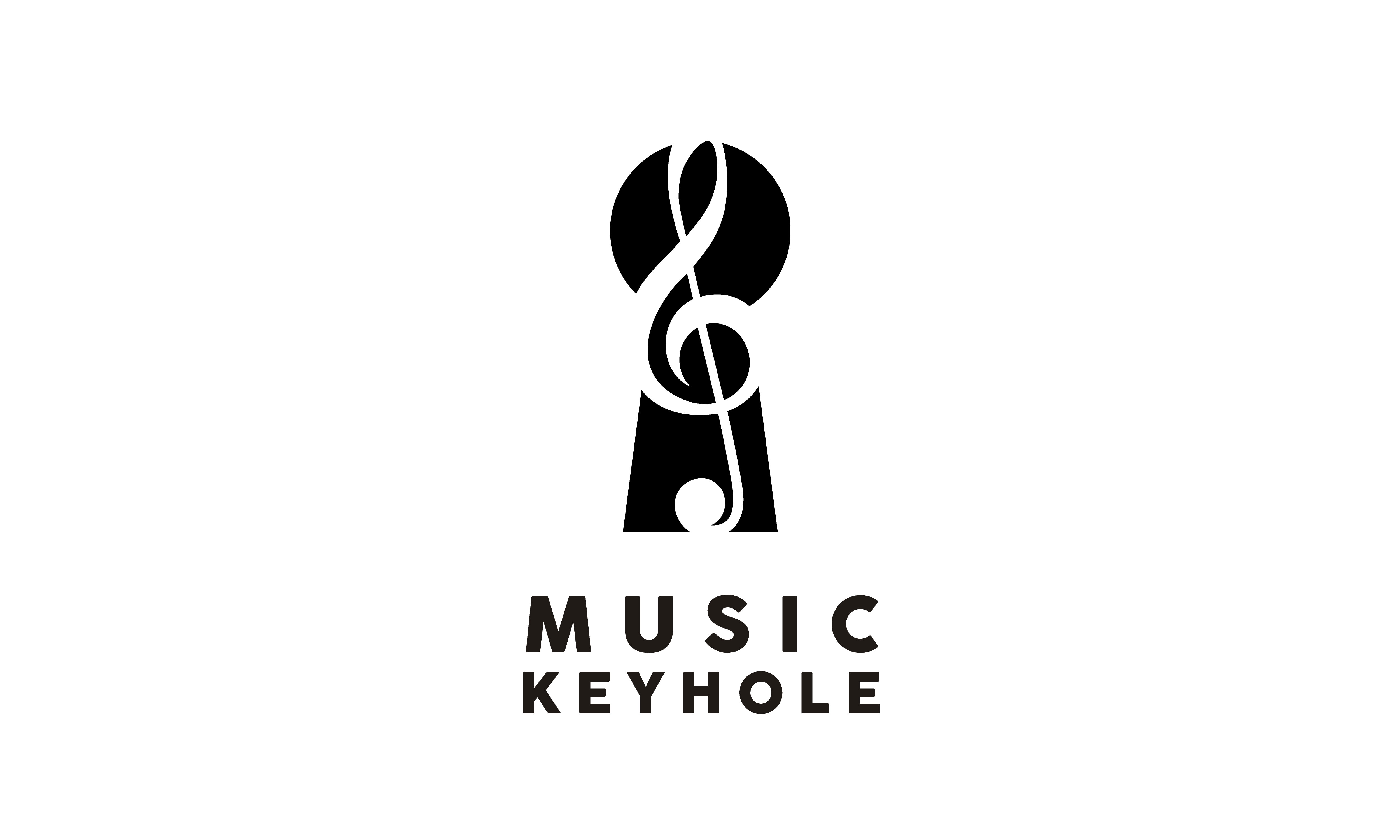Music Note Treble Clef With Keyhole Logo Graphic By Enola99d