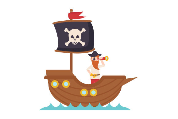 Pirate Steering Ship Pirates Craft Cut File By Creative Fabrica Crafts