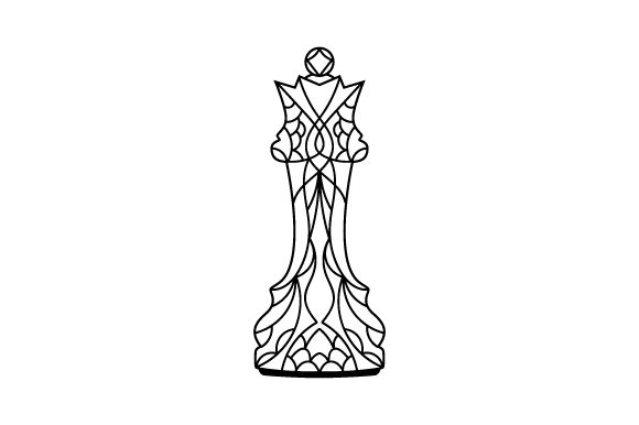 Queen Mandala Style Games Craft Cut File By Creative Fabrica Crafts - Image 1