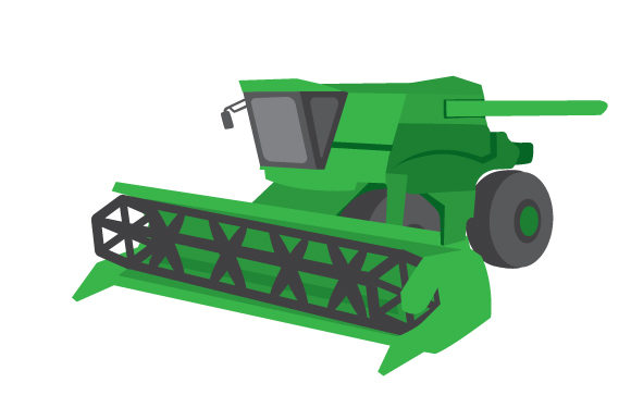 Combine Harvester Farm & Country Craft Cut File By Creative Fabrica Crafts