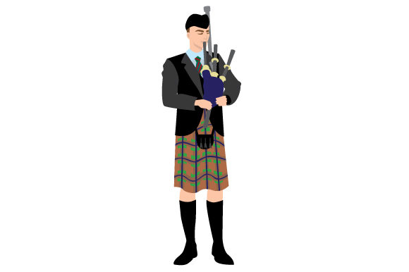 Bagpipe Player Scotland Craft Cut File By Creative Fabrica Crafts - Image 1