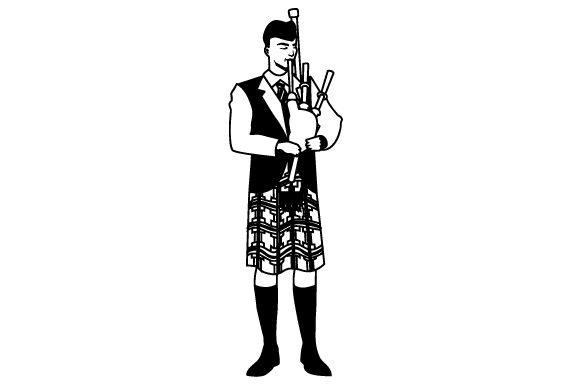 Bagpipe Player Scotland Craft Cut File By Creative Fabrica Crafts - Image 2