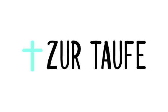 Zur Taufe - Cross Germany Craft Cut File By Creative Fabrica Crafts