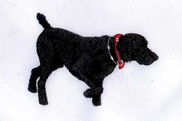 Black Labrador Dogs Embroidery Design By DigitEMB
