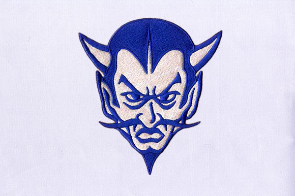 Blue Devil Halloween Embroidery Design By DigitEMB