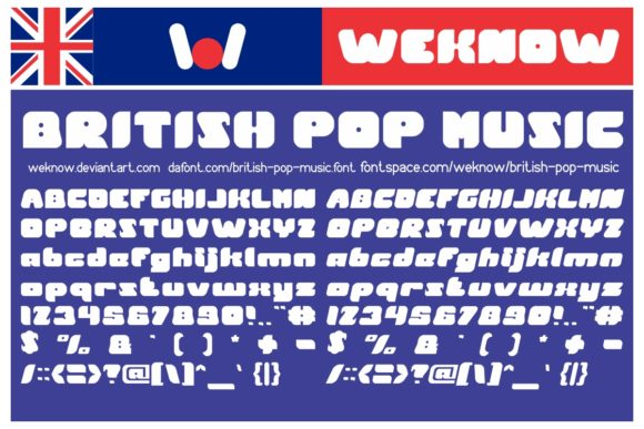 Download Free British Pop Music Font By Weknow Creative Fabrica for Cricut Explore, Silhouette and other cutting machines.