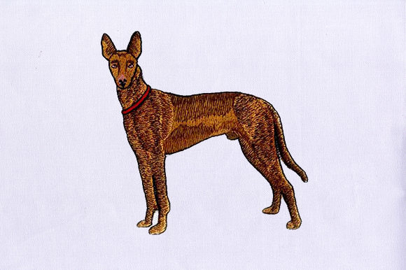 Brown Greyhound Dogs Embroidery Design By DigitEMB