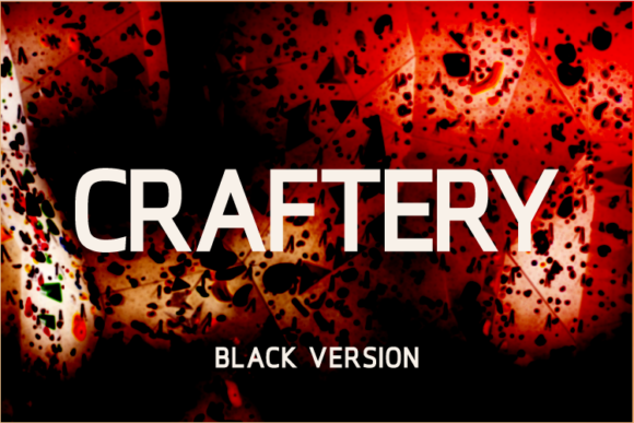 Print on Demand: Craftery Black Sans Serif Font By A Christie