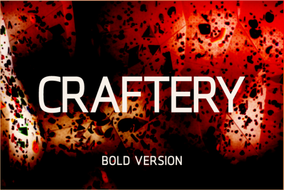 Print on Demand: Craftery Bold Sans Serif Font By A Christie