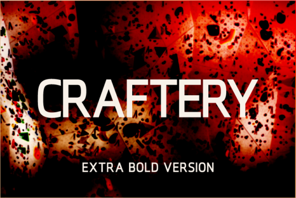 Print on Demand: Craftery Extra Bold Sans Serif Font By A Christie