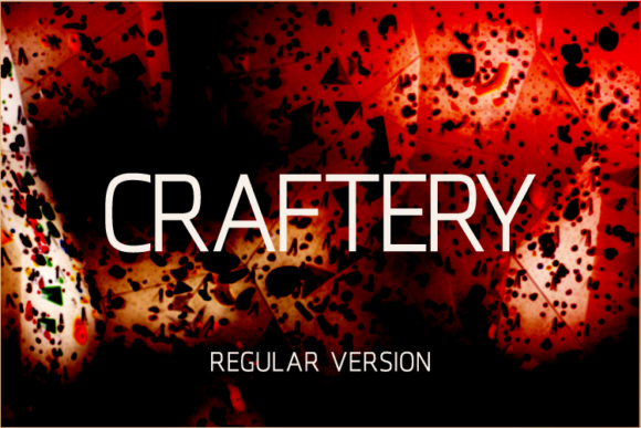 Print on Demand: Craftery Sans Serif Font By A Christie