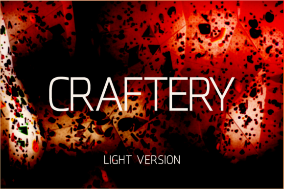 Print on Demand: Craftery Light Sans Serif Font By A Christie