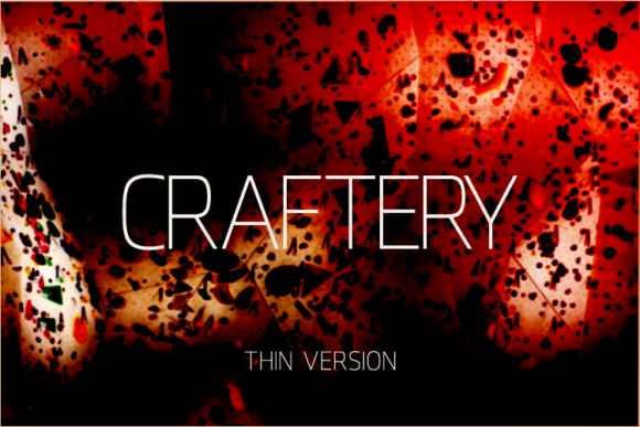 Print on Demand: Craftery Thin Sans Serif Font By A Christie