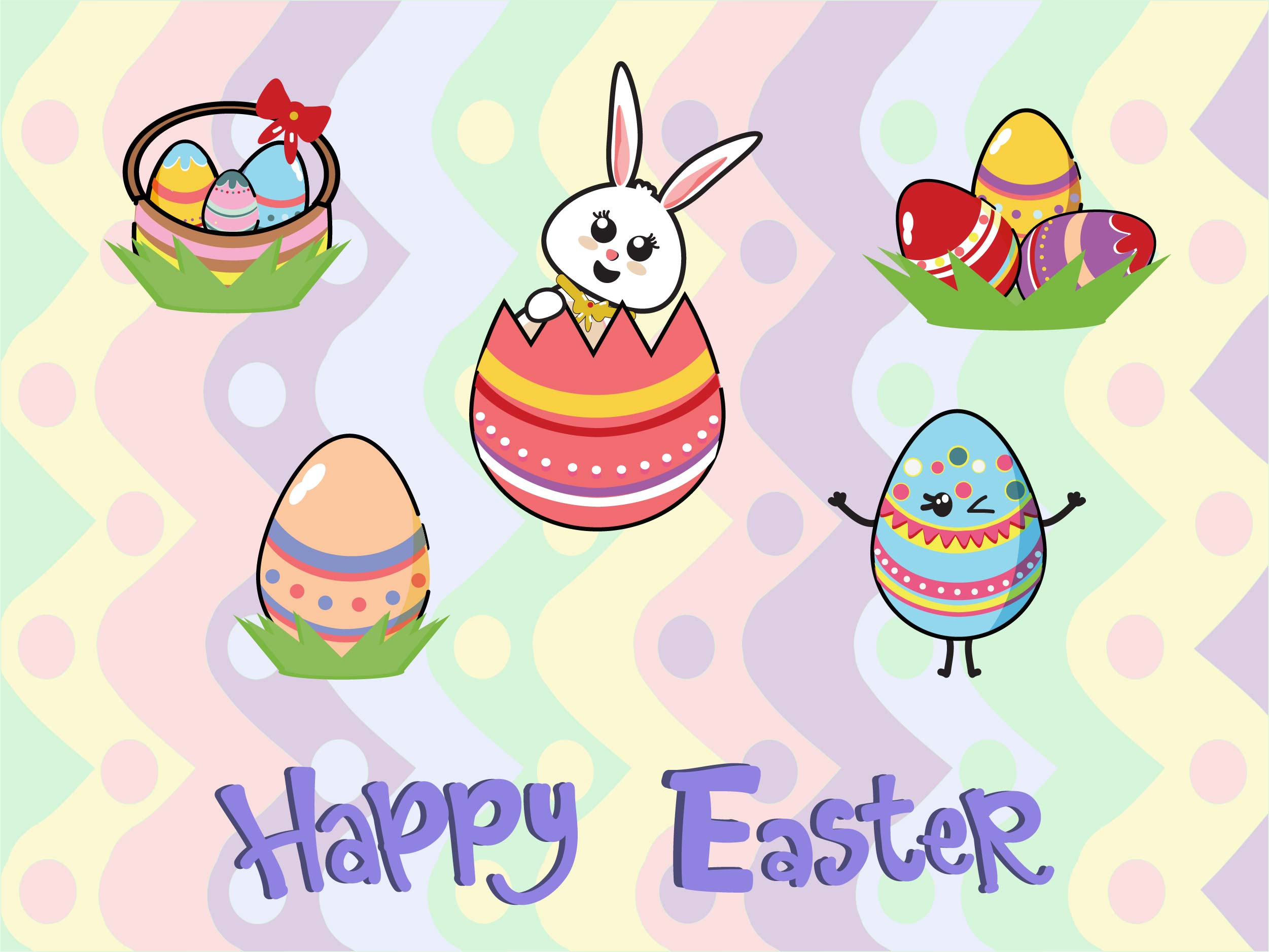 Download Free Easter Bundle Grafico Por Purplebubble Creative Fabrica for Cricut Explore, Silhouette and other cutting machines.