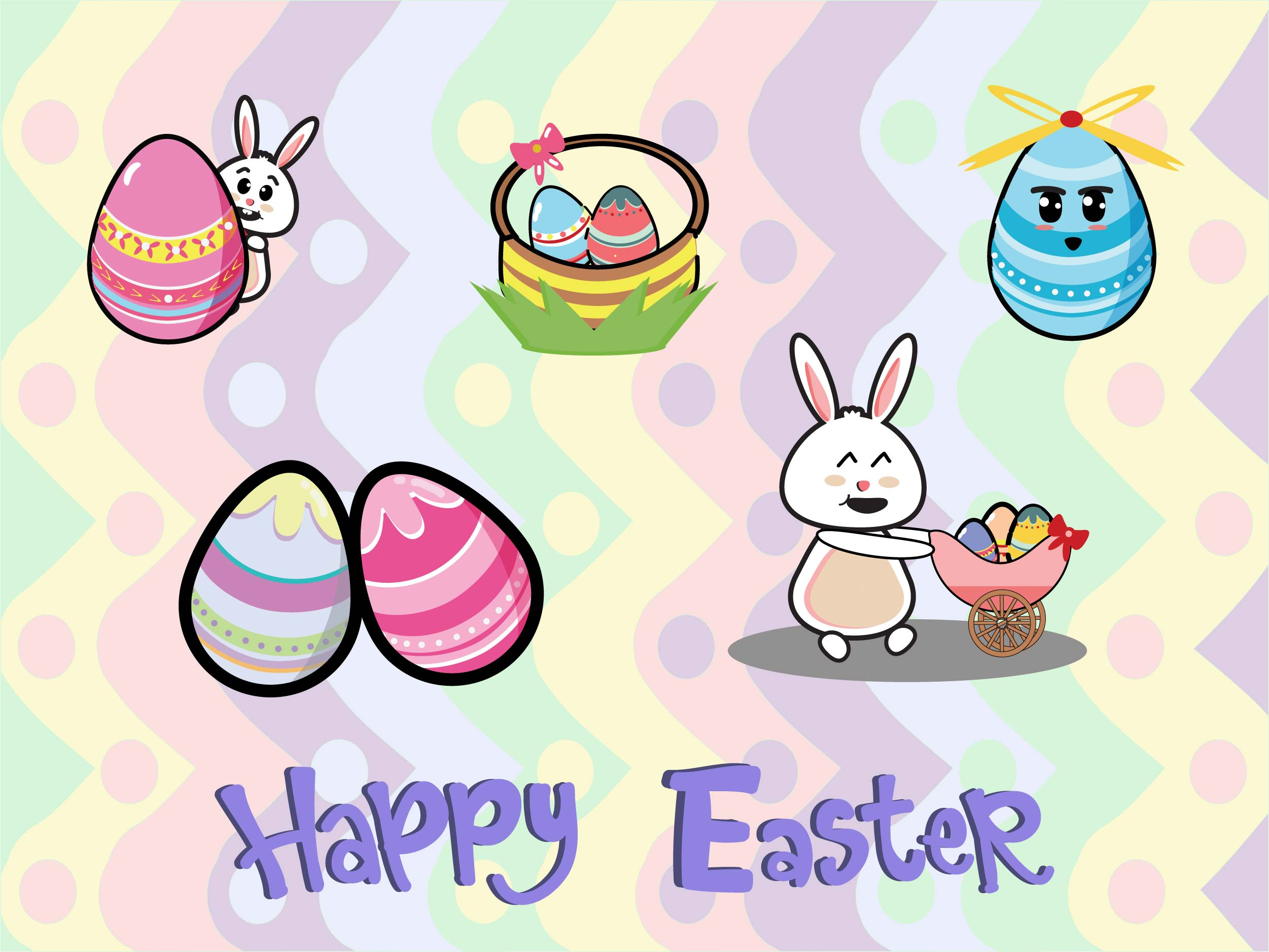 Download Free Easter Bundle Graphic By Purplebubble Creative Fabrica for Cricut Explore, Silhouette and other cutting machines.