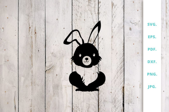 Download Free Easter Bunny Cut File 1 Graphic By Sintegra Creative Fabrica for Cricut Explore, Silhouette and other cutting machines.