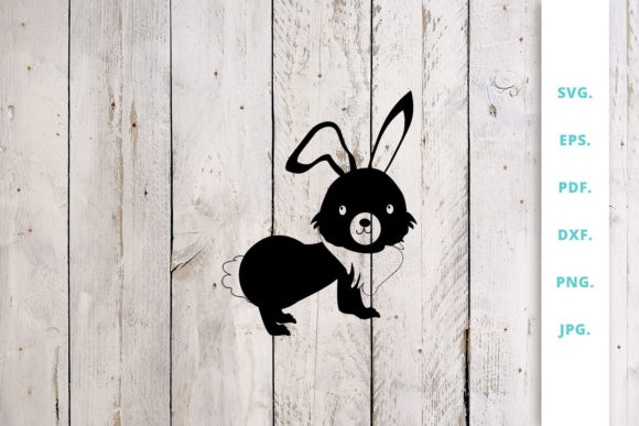 Download Free Easter Bunny Cut File 2 Graphic By Sintegra Creative Fabrica for Cricut Explore, Silhouette and other cutting machines.