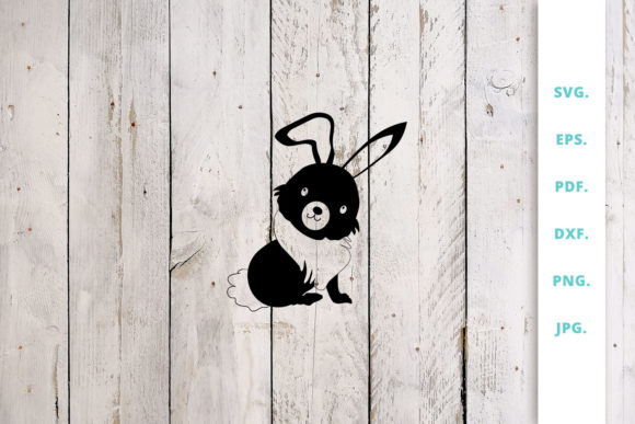 Download Free Easter Bunny Cut File 3 Graphic By Sintegra Creative Fabrica for Cricut Explore, Silhouette and other cutting machines.