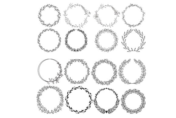 Print on Demand: Floral Wreath Clip Art Bundle Graphic Crafts By MeshaArts - Image 1