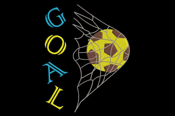 Print on Demand: Football/Soccer-Goal Sport Stickdesign von Embroidery Shelter