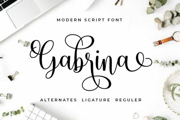 Print on Demand: Gabrina Script & Handwritten Font By Aqeela Studio