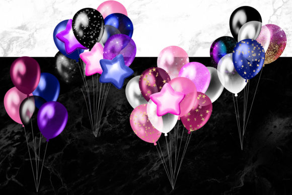 Download Free Galaxy Balloons Clipart Graphic By Digital Curio Creative Fabrica for Cricut Explore, Silhouette and other cutting machines.