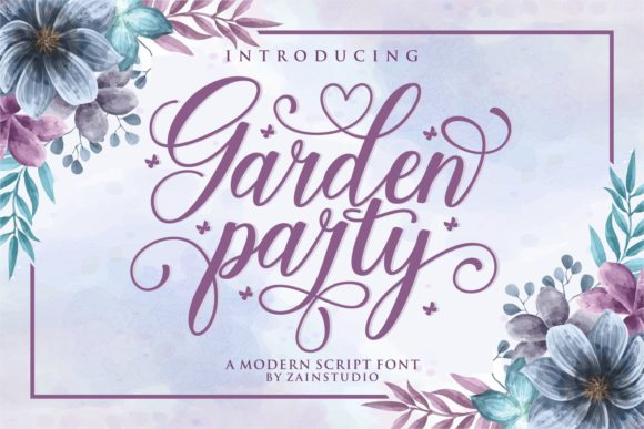 Print on Demand: Garden Party Script & Handwritten Font By zainstudio