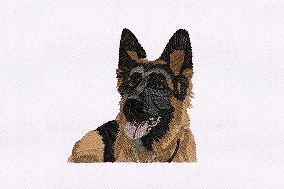 German Shepherd Dogs Embroidery Design By DigitEMB
