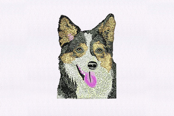 German Shepherd Face Dogs Embroidery Design By DigitEMB