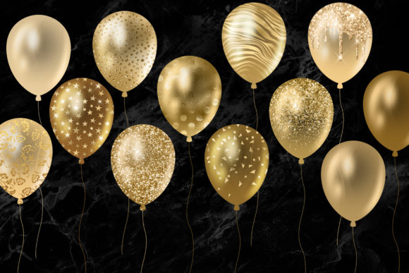 Download Free Glitter Balloons Clipart Graphic By Digital Curio Creative Fabrica for Cricut Explore, Silhouette and other cutting machines.