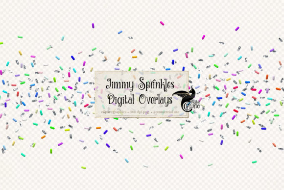Print on Demand: Jimmy Sprinkle Confetti Overlays Graphic Objects By Digital Curio