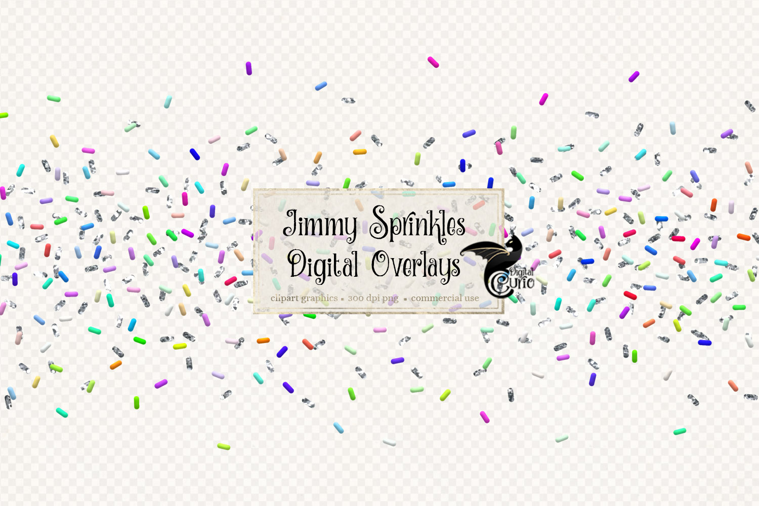 Download Free Jimmy Sprinkle Confetti Overlays Graphic By Digital Curio for Cricut Explore, Silhouette and other cutting machines.