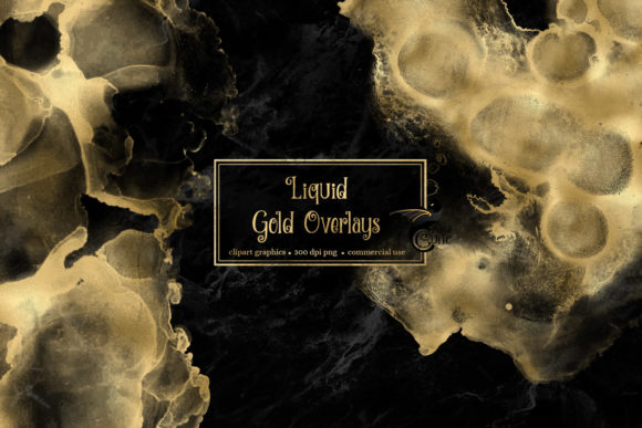 Print on Demand: Liquid Gold Overlays Graphic Textures By Digital Curio