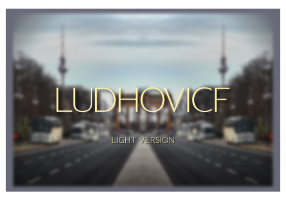 Print on Demand: Ludhovicf Light Sans Serif Font By A Christie