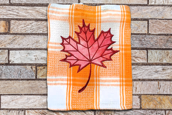 Maple Leaf Applique Autumn Embroidery Design By DesignedByGeeks