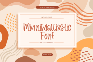 Print on Demand: Minnimallisstic Script & Handwritten Font By Asd Studio
