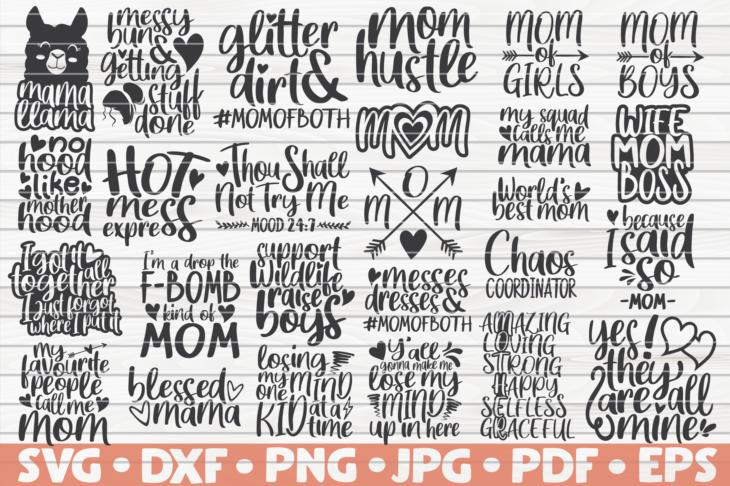 Download Free Mom Quotes Bundle For Mother S Day Graphic By Mihaibadea95 for Cricut Explore, Silhouette and other cutting machines.