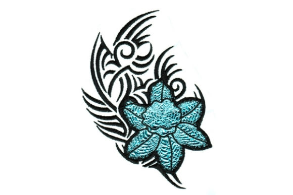 Mylar Tribal Flower Outline Flowers Embroidery Design By Sue O'Very Designs