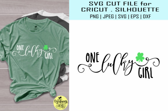 Download Free One Lucky Girl St Patricks Day Graphic By Midmagart Creative for Cricut Explore, Silhouette and other cutting machines.