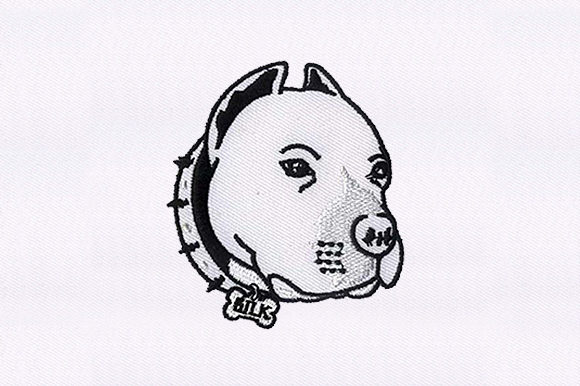 Pit Bull Face Dogs Embroidery Design By DigitEMB
