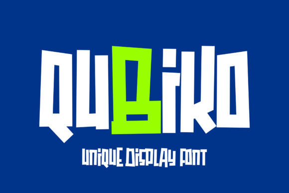 Print on Demand: Qubiko Display Font By figuree studio