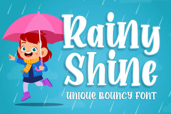 Print on Demand: Rainy Shine Display Font By Blankids Studio - Image 1