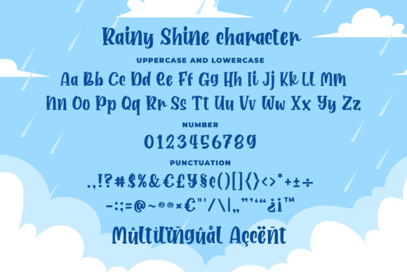 Print on Demand: Rainy Shine Display Font By Blankids Studio - Image 6