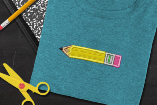 School Pencil Applique Back to School Embroidery Design By DesignedByGeeks
