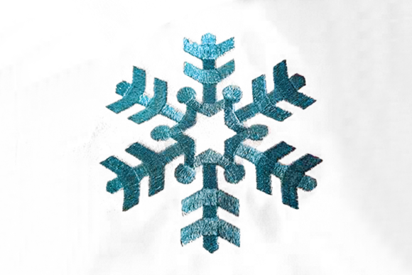 Single Simple Snowflake Winter Embroidery Design By DesignedByGeeks