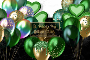 Print on Demand: St Patrick's Day Balloons Clipart Graphic Illustrations By Digital Curio