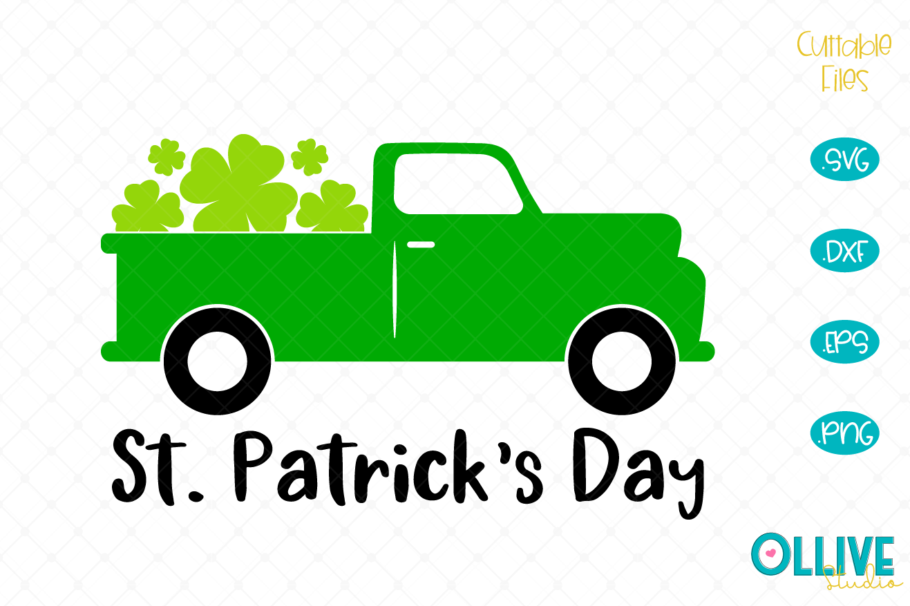 Download Free St Patrick S Day Truck Graphic By Ollivestudio Creative Fabrica for Cricut Explore, Silhouette and other cutting machines.