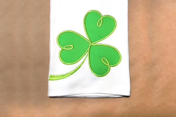 Swirly St Patrick's Shamrock Applique St Patrick's Day Embroidery Design By DesignedByGeeks
