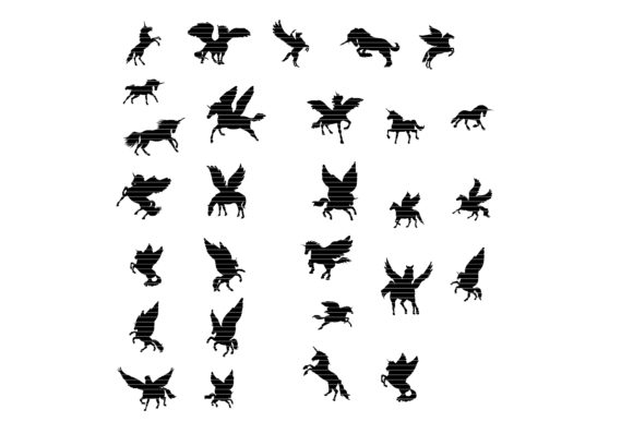 Download Free Unicorn Clip Art Bundle Graphic By Meshaarts Creative Fabrica for Cricut Explore, Silhouette and other cutting machines.