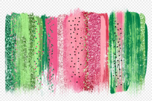 Print on Demand: Watermelon Watercolor Elements Clipart Graphic Illustrations By Digital Curio 2